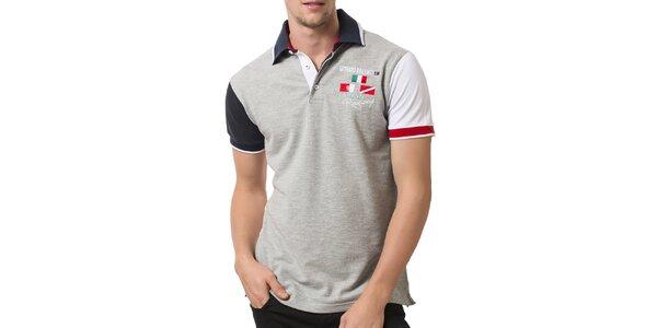 Pánske polo tričko s farebnými rukávmi Giorgio Valenti