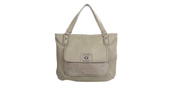 Dámska béžová kabelka na zips United Colors of Benetton