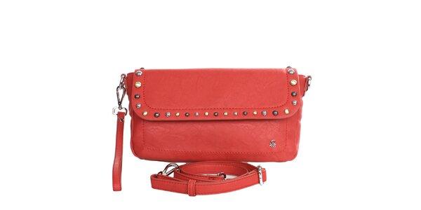 Dámska červená kabelka s odopínacím popruhom United Colors of Benetton