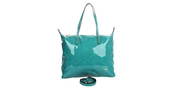 Dámska tyrkysová lakovaná kabelka United Colors of Benetton