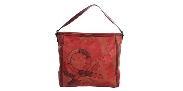 Dámska červená kabelka s popruhom United Colors of Benetton