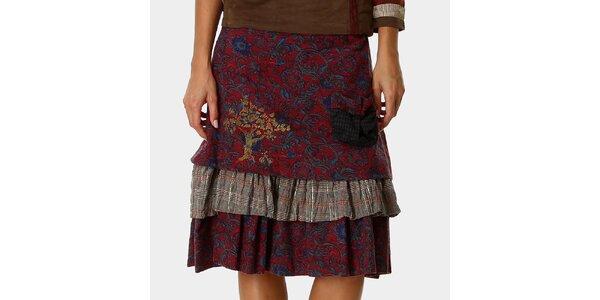 Dámska červená sukňa so vzorom Ian Mosh