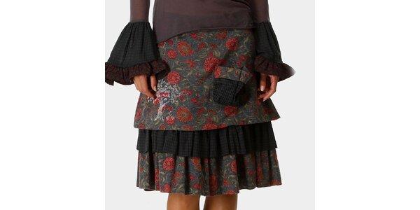 Dámska šedá sukňa so vzorom Ian Mosh