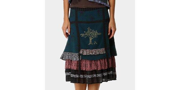 Dámska zelená sukňa s potlačou Ian Mosh