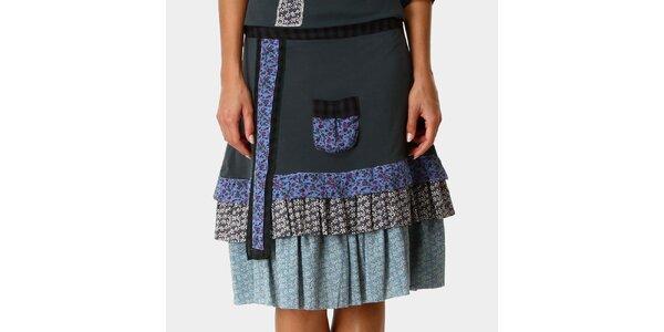 Dámska zelená sukňa so vzorovanými volánmi Ian Mosh