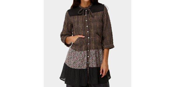 Dámske vzorované šaty s gombíkmi Ian Mosh