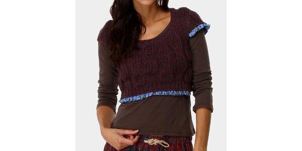 Dámsky top s tmavo fialovým svetríkom Ian Mosh