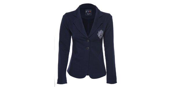 Dámske tmavo modré sako s nášivkami Giorgio di Mare