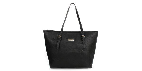Dámska čierna kabelka s dlhými popruhmi Kangol