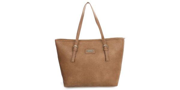 Dámska hnedá kabelka s dlhými popruhmi Kangol