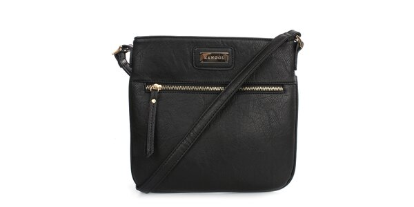 Dámska čierna menšia kabelka cez rameno Kangol