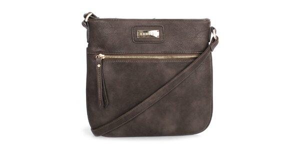 Dámska hnedá menšia kabelka cez rameno Kangol