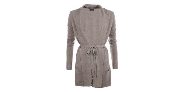 Dámsky dlhší sveter v béžovej farbe Smiton