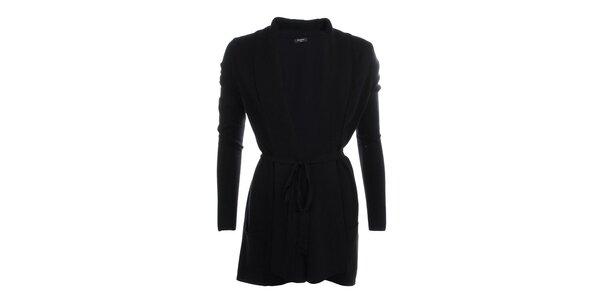 Dámsky dlhší sveter v čiernej farbe Smiton