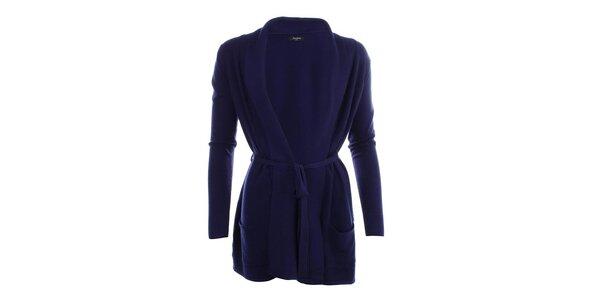 Dámsky dlhší sveter v modrej farbe Smiton