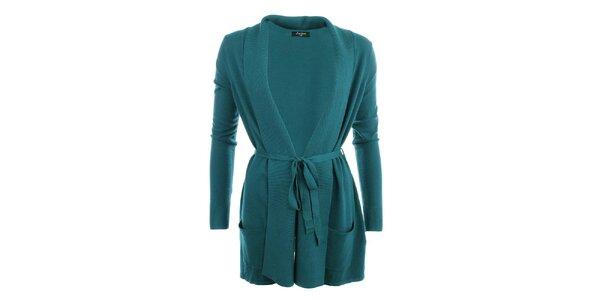 Dámsky dlhší sveter v zelenej farbe Smiton