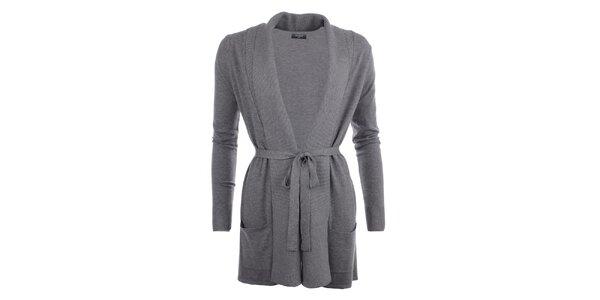 Dámsky dlhší sveter v šedej farbe Smiton