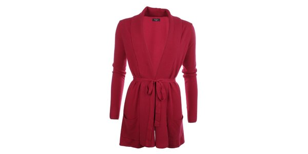 Dámsky dlhší sveter v červenej farbe Smiton