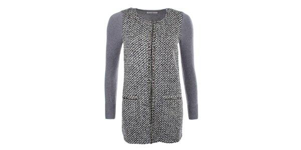 Dámsky šedý sveter s cvočkami Beauty Women
