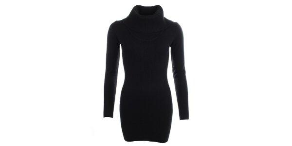 Dámsky čierny sveter s rolákom Beauty Women