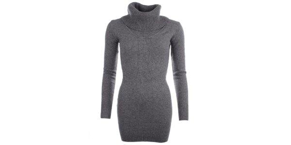 Dámsky šedý sveter s rolákom Beauty Women