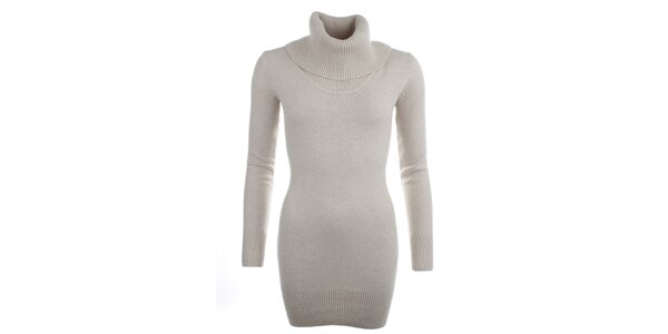 Dámsky svetlý sveter s rolákom Beauty Women