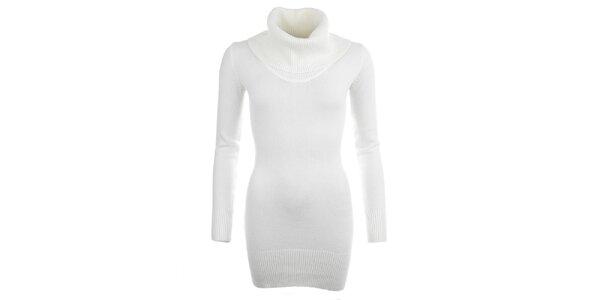 Dámsky biely sveter s rolákom Beauty Women