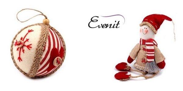 Vianočné ozdoby, závesné dekorácie gule a škriatkovia