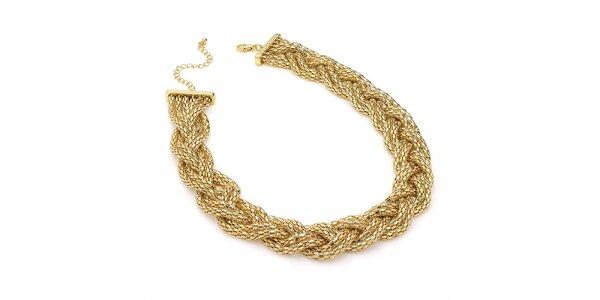 Dámsky prepletaný náhrdelník v zlatom tóne Carmen Luna