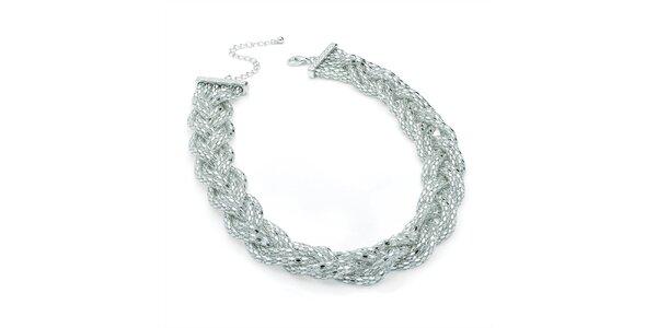 Dámsky prepletaný náhrdelník v striebornom tónu Carmen Luna