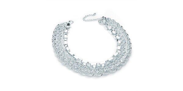 Dámsky trojradový náhrdelník v striebornom tóne Carmen Luna
