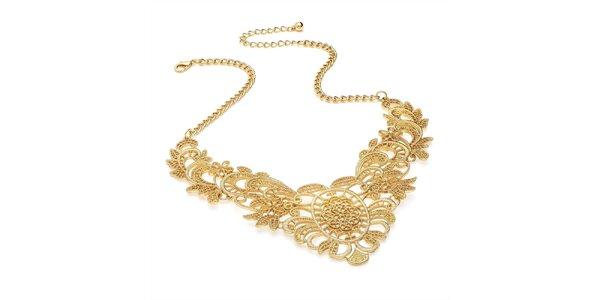 Dámsky elegantný náhrdelník v zlatej farbe Carmen Luna