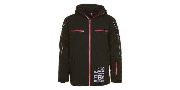 Pánska čierna bunda s vodným stĺpcom E2KO