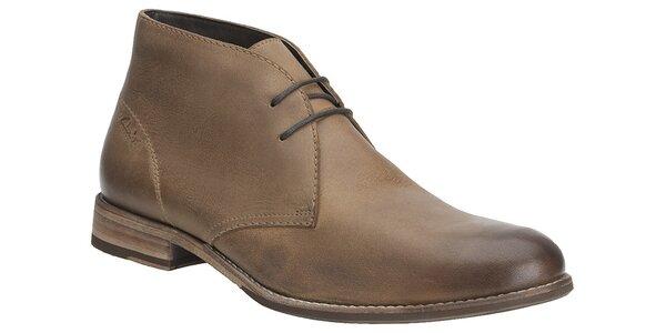 Pánske svetlo hnedé kotníčkové topánky Clarks