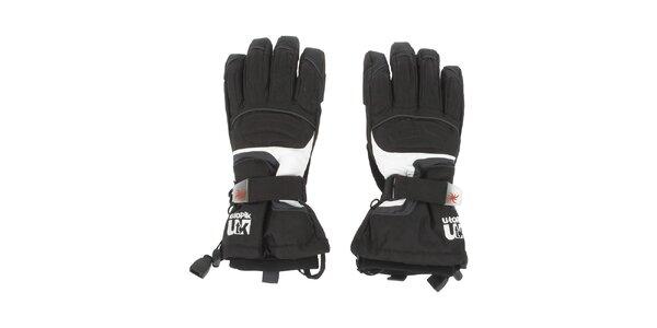 Pánske čierne lyžiarske rukavice E2ko