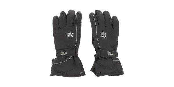 Dámske čierne lyžiarske rukavice E2ko