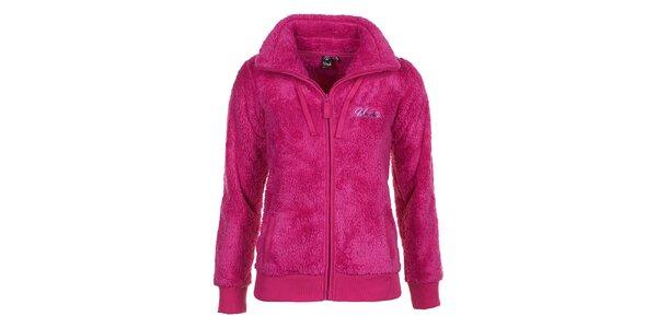 Dámska ružová fleecová mikina E2ko