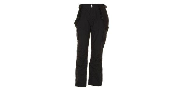 Pánske čierne lyžiarske nohavice E2ko