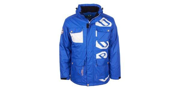 Pánska modrá bunda na lyže E2ko