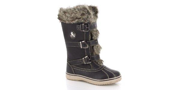 Dámske zimné topánky s kožúškom E2ko