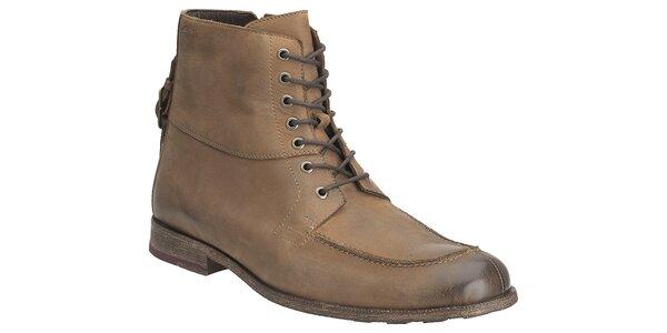 Pánske svetlo hnedé kotníkové topánky Clarks