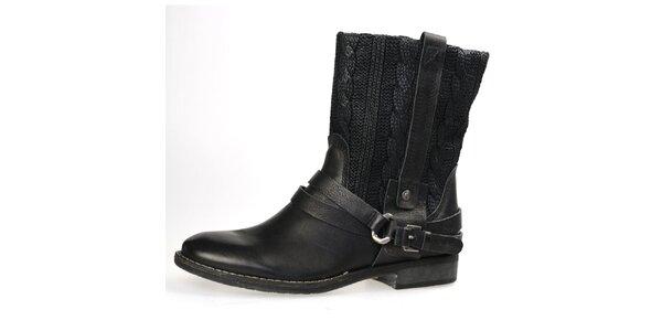 Dámske čierne topánky s plastickým vzorom Bullboxer