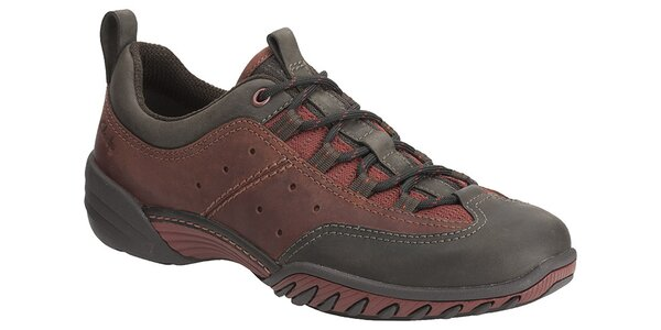 Pánske vínovo-čierne športové topánky Clarks