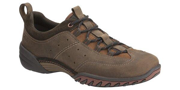 Pánske tmavo hnedé športové topánky Clarks