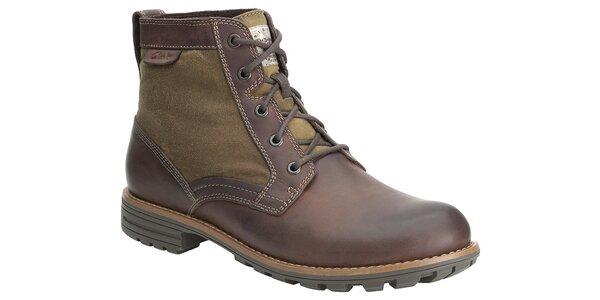 Pánske hnedé kotníčkové topánky Clarks