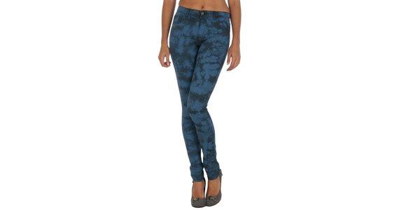 Dámske modré vzorované nohavice Vila Clothes