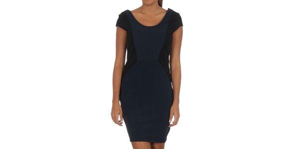 Dámske modro-čierne šaty Vila Clothes