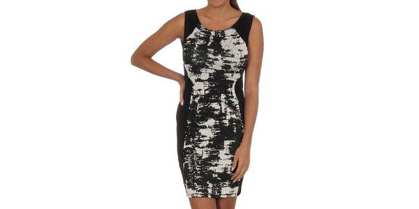 Dámske čierne šaty so vzorom Vila Clothes