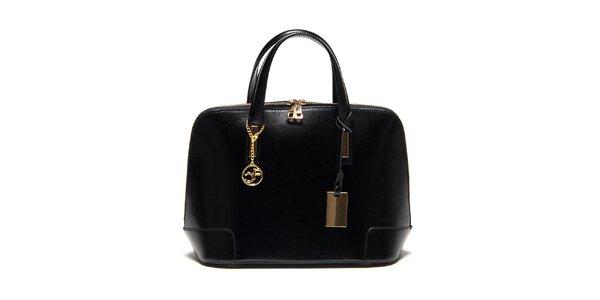 Dámska čierna kufríková kabelka Carla Ferreri