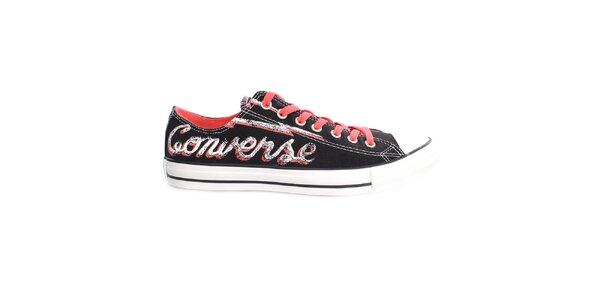 Čierne tenisky s nápisom Converse